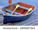 Colorful weathered rowboat...