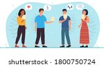 four diverse people expressing...   Shutterstock .eps vector #1800750724