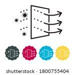 covid 19 micro clean air...   Shutterstock .eps vector #1800755404