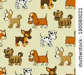 seamless pattern with puppies.... | Shutterstock .eps vector #180080021