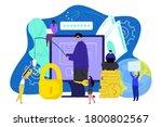 computer thief technology.... | Shutterstock .eps vector #1800802567