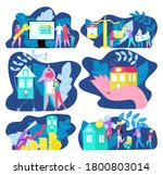 buy house  real estate buying ... | Shutterstock .eps vector #1800803014