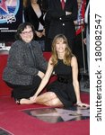 Small photo of Judy Swank and daughter Hilary Swank at the induction ceremony for STAR ON THE HOLLYWOOD WALK OF FAME for Hilary Swank, Hollywood Boulevard at Grauman's Chinese Theatre, Los Angeles, January 08, 2007