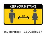 social distancing. keep the 1 2 ... | Shutterstock .eps vector #1800855187