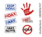vector illustration of the hoax ... | Shutterstock .eps vector #1800856747