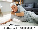 elderly senior man slip and... | Shutterstock . vector #1800880357