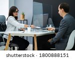 client signing contract at desk ... | Shutterstock . vector #1800888151