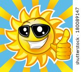 Smiling Sun Showing Thumb Up....