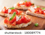 italian bruschetta with... | Shutterstock . vector #180089774