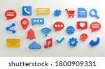 social media icons set 3d... | Shutterstock . vector #1800909331