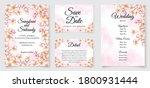 cherry blossom wedding... | Shutterstock .eps vector #1800931444