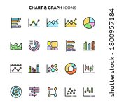 vector icons related to charts... | Shutterstock .eps vector #1800957184