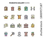 vector icons related to art ...