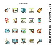 vector icons related to search... | Shutterstock .eps vector #1800957241