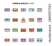 vector icons related to fashion ...