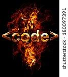 code  illustration of  number... | Shutterstock . vector #180097391