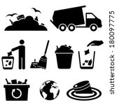 bin,black,broom,can,cleaning,dump,dustpan,earth,ecology,environment,garbage,globe,hygienic,icon,illustration