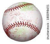 detailed baseball with scuff... | Shutterstock .eps vector #180098651