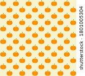 orange pumpkin with yellow... | Shutterstock .eps vector #1801005304