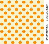 Orange Pumpkin With Yellow...