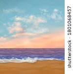 paradise sea beach with nobody... | Shutterstock .eps vector #1801068457