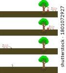 apple seed dispersal by mammal | Shutterstock .eps vector #1801072927