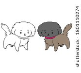 adult coloring pages puppies dog | Shutterstock .eps vector #1801110274
