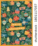christmas and happy new year... | Shutterstock .eps vector #1801117057