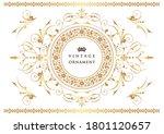 set of vintage elements for... | Shutterstock .eps vector #1801120657
