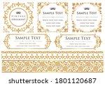 set of vintage elements for... | Shutterstock .eps vector #1801120687