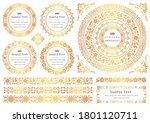set of vintage elements for... | Shutterstock .eps vector #1801120711