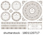 set of vintage elements for... | Shutterstock .eps vector #1801120717
