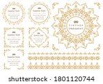 set of vintage elements for... | Shutterstock .eps vector #1801120744