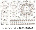 set of vintage elements for... | Shutterstock .eps vector #1801120747