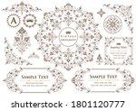 set of vintage elements for... | Shutterstock .eps vector #1801120777