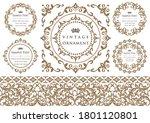 set of vintage elements for...   Shutterstock .eps vector #1801120801
