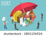 3d isometric flat vector... | Shutterstock .eps vector #1801156924