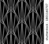 art deco pattern. vector black... | Shutterstock .eps vector #1801160707