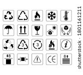 cargo symbols set   packaging... | Shutterstock .eps vector #1801161211
