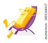 cartoon funny gold ingot...   Shutterstock .eps vector #1801168417