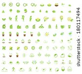 eco icons set   isolated on... | Shutterstock .eps vector #180117494