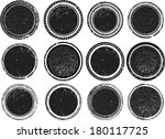 set of grunge stamp  | Shutterstock .eps vector #180117725