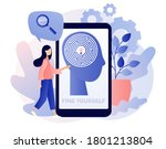 find yourself and maze in... | Shutterstock .eps vector #1801213804