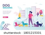 female character walks with... | Shutterstock .eps vector #1801215331