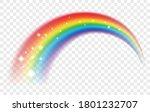 lucky rainbow. rain bow vector... | Shutterstock .eps vector #1801232707