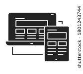 responsive design black glyph...