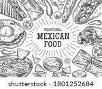 traditional mexican food....   Shutterstock . vector #1801252684