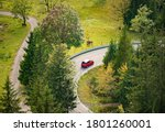 Car In Mountains Of Bavaria ...