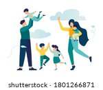 vector illustration of a happy... | Shutterstock .eps vector #1801266871