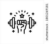 vector black line strength icon | Shutterstock .eps vector #1801269181